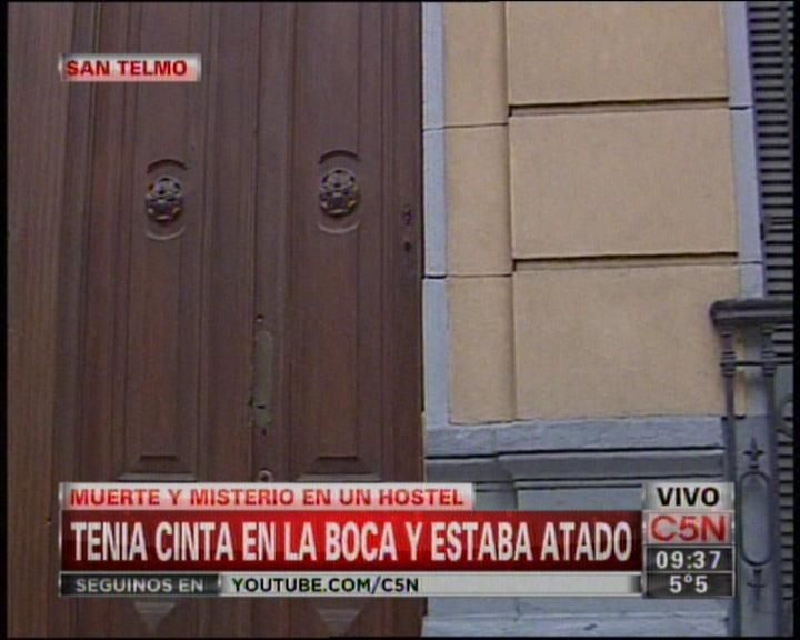 Hallan muerto y maniatado a un colombiano en un hostel