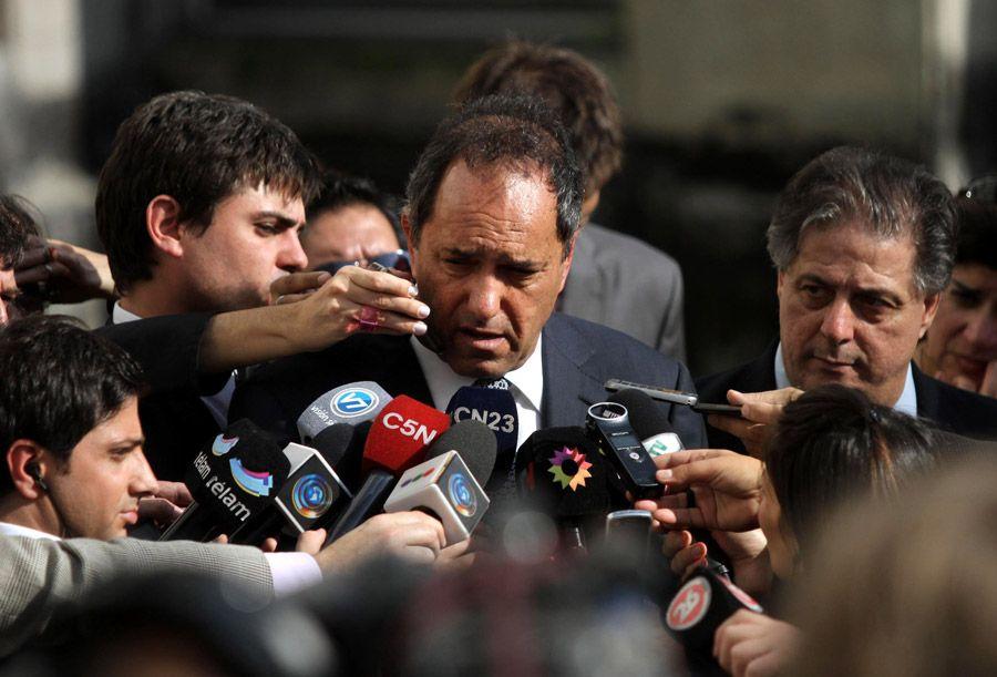 Daniel Scioli: No especulamos si hay aplauso o insulto