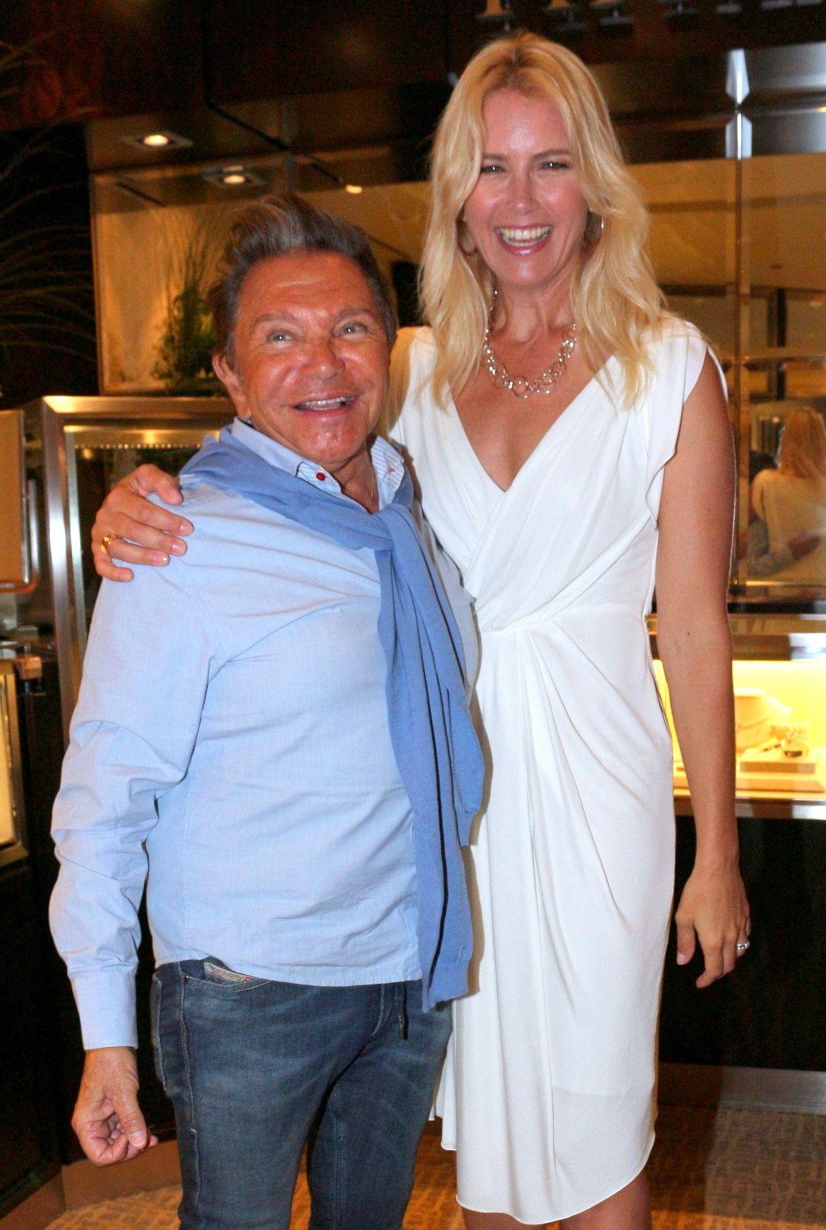 Valeria Mazza junto a Felipe Rozenmuter en el cocktail que de Tiffany