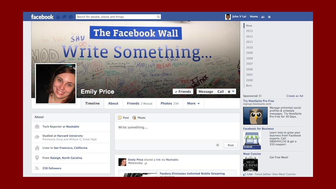 Se filtró en Internet el nuevo diseño de Facebook