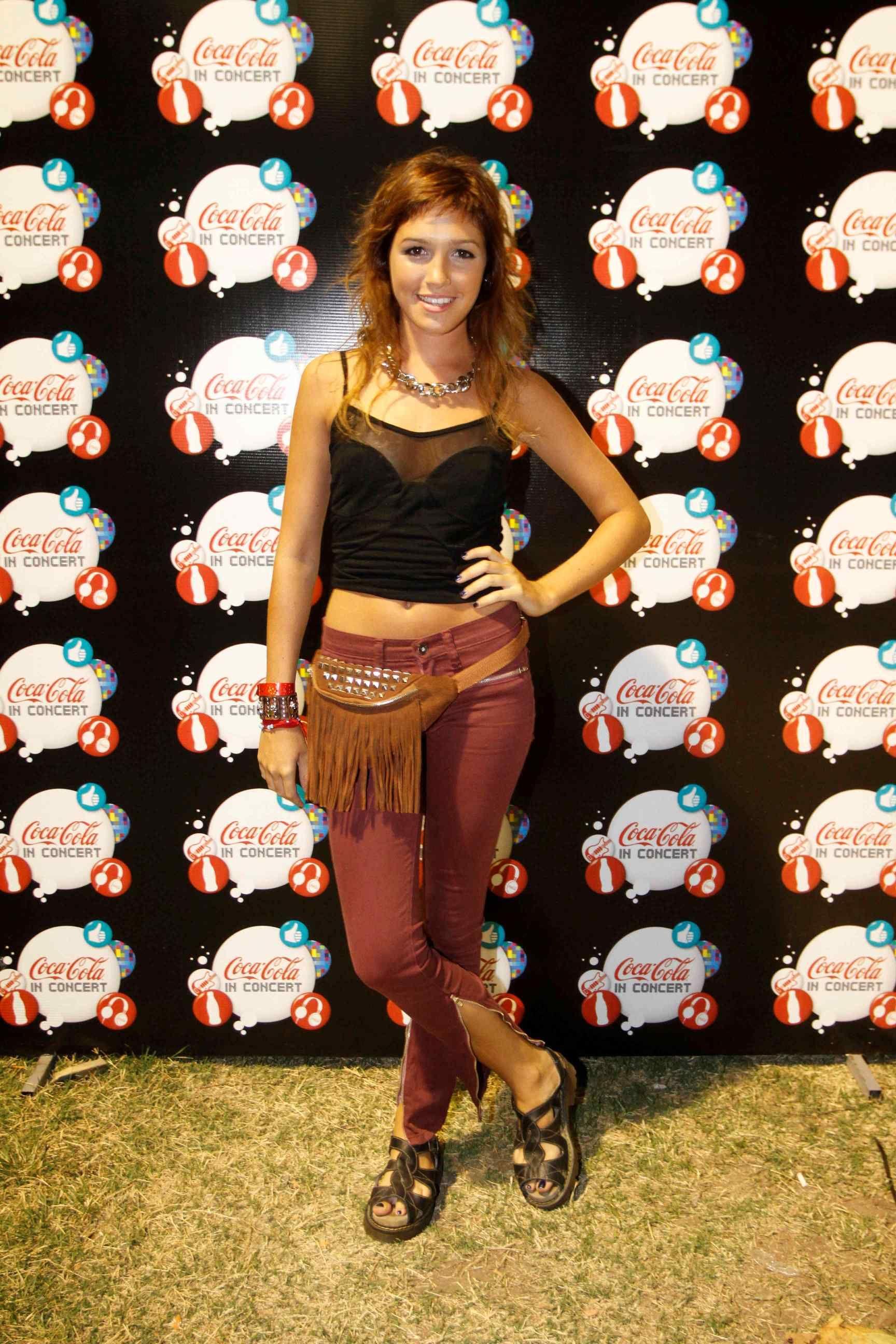 Candela Vetrano estuvo presente en una nueva fecha de Coca-Cola in Concert - Jamiroquai