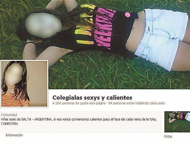 Facebook: polémica por perfil que muestra niñas sexies