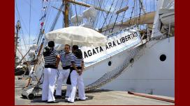 La Fragata Libertad en Ghana