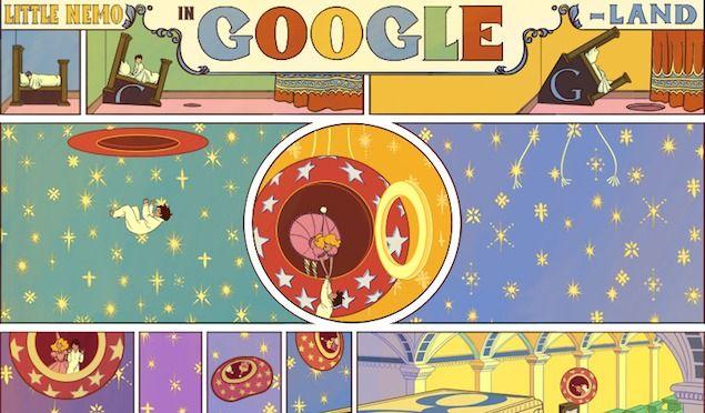 Google y un elaborado doodle para homenajear a un dibujante