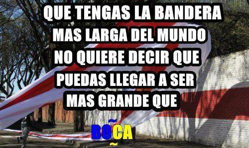 Las cargadas de los hinchas de Boca a River por la bandera