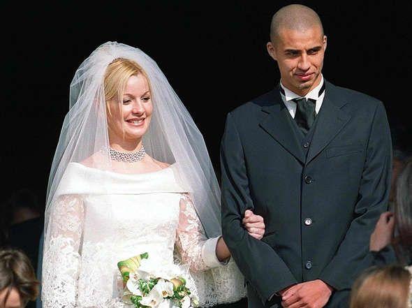 Durante su casamiento en épocas más felices.