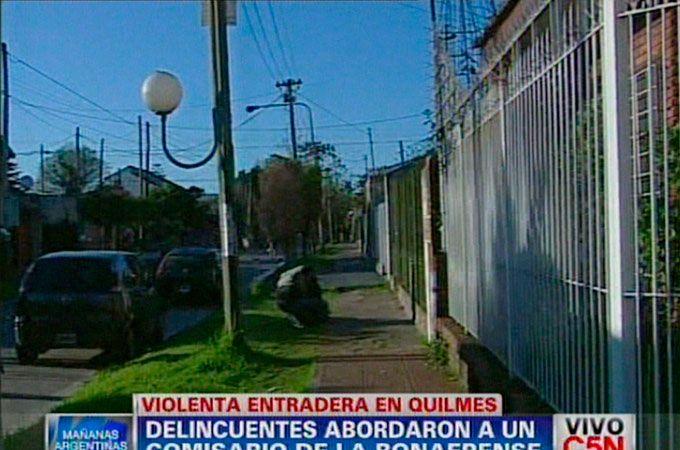 Un comisario de la Bonaerense resistió a los tiros una entradera