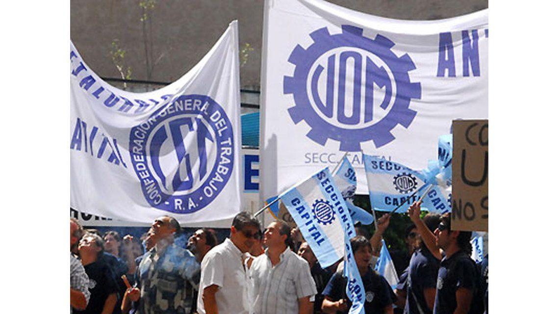 Ante la falta de acuerdo en las paritarias, la UOM anunció medidas de fuerza