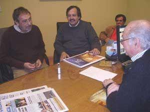 Ricardo Alfonsín y Luis Brandoni