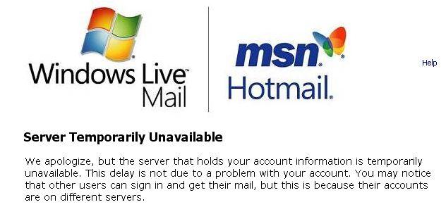 Hotmail-down