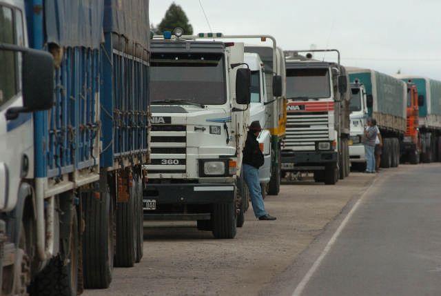 Paro camiones_Telam