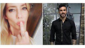 Cruce de posteos en Instagram entre Nicole y Cubero.