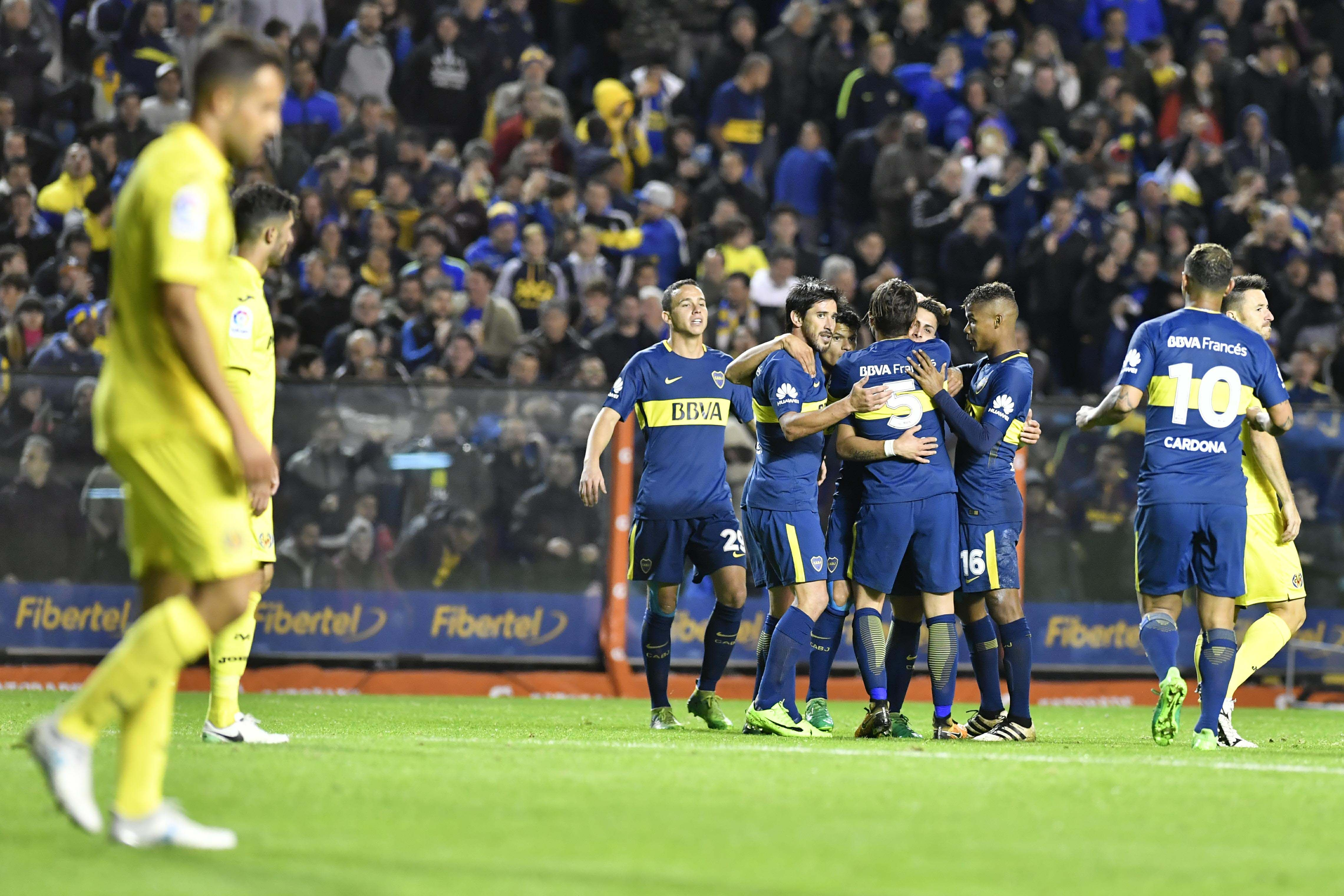 Boca derrotó a Villarreal de España en el amistoso en la Bombonera