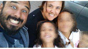 Gabriel Agüero, Valeria Marsili y sus tres hijas