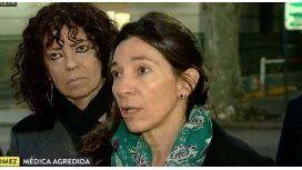 Andrea Gómez, médica agredida.