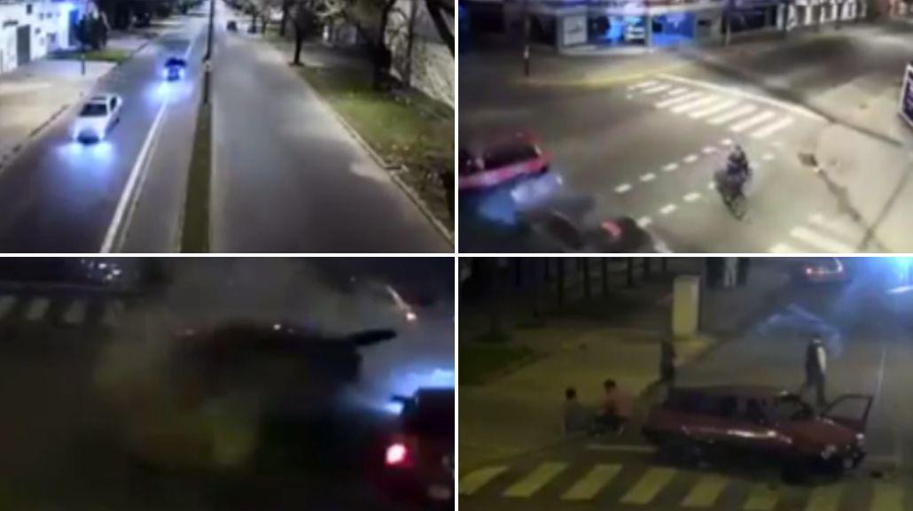 VIDEO: Así fue el impactante choque medio de una picada fatal en Rosario