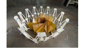 Escudo hecho en origami plegable.