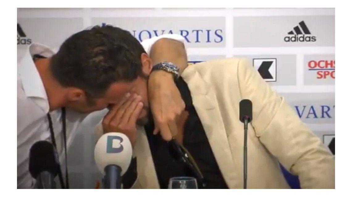 El jugador surgido en Chacarita no pudo contener la emoción