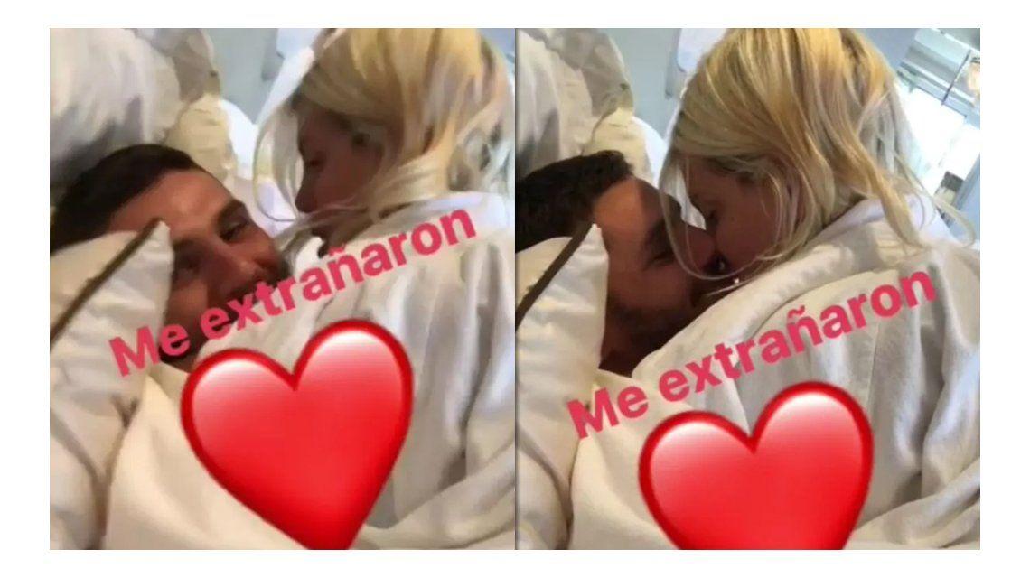 El reencuentro hot de Wanda Nara y Mauro Icardi, a los besos en la cama