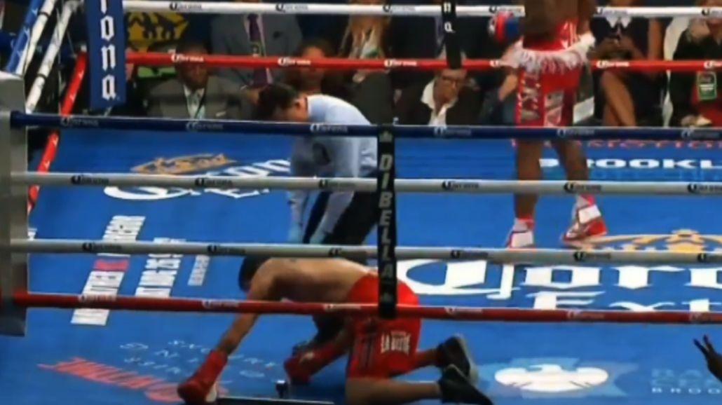 ¿Heiland subió al ring lesionado? Mirá el video del pesaje