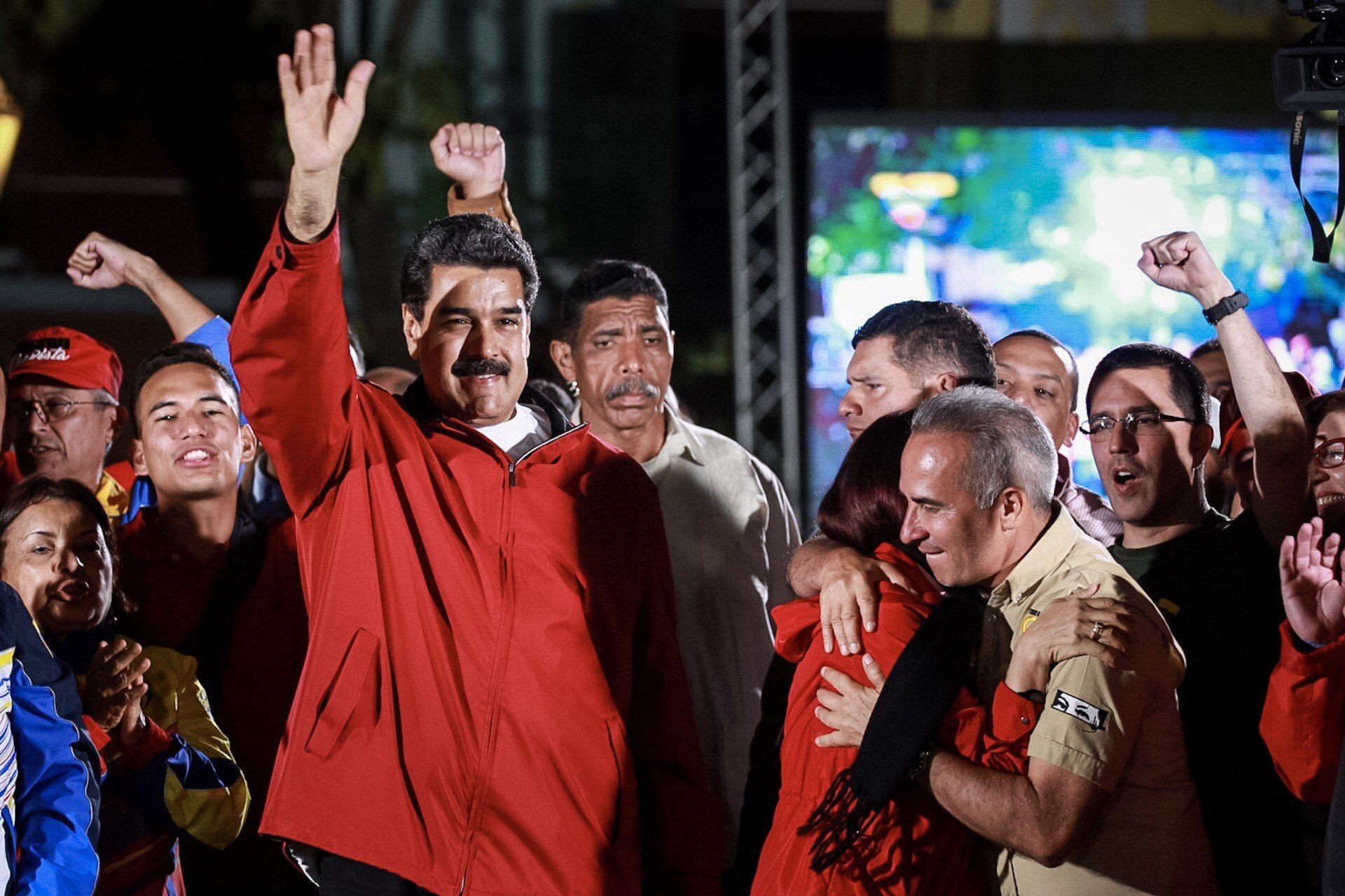 Nicolás Maduro celebra tras la elección para la Asamblea Nacional Constituyente