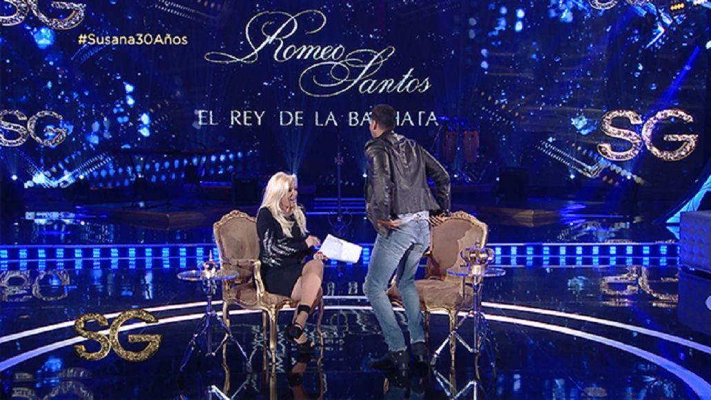 VIDEO: El baile hot de Romeo Santos para Susana Giménez