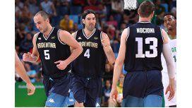 Retiraron las camisetas de Ginóbili y Nocioni en el seleccionado de básquet