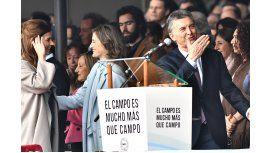 Macri, en La Rural: Le sacamos un pie de encima y el campo respondió