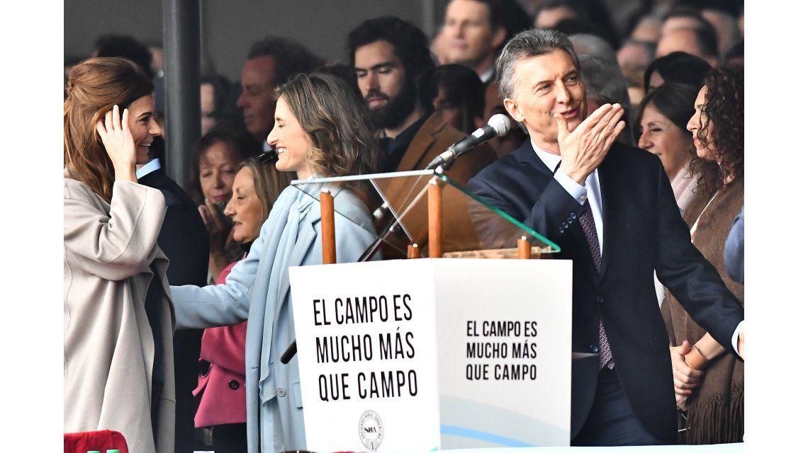 A días de las PASO, Macri inauguró la Exposición de La Rural