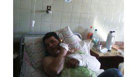 Jesús Báez debió ser internado tras ser alcanzado por cinco balazos.