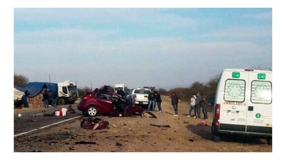 Así quedó el auto tras la tragedia