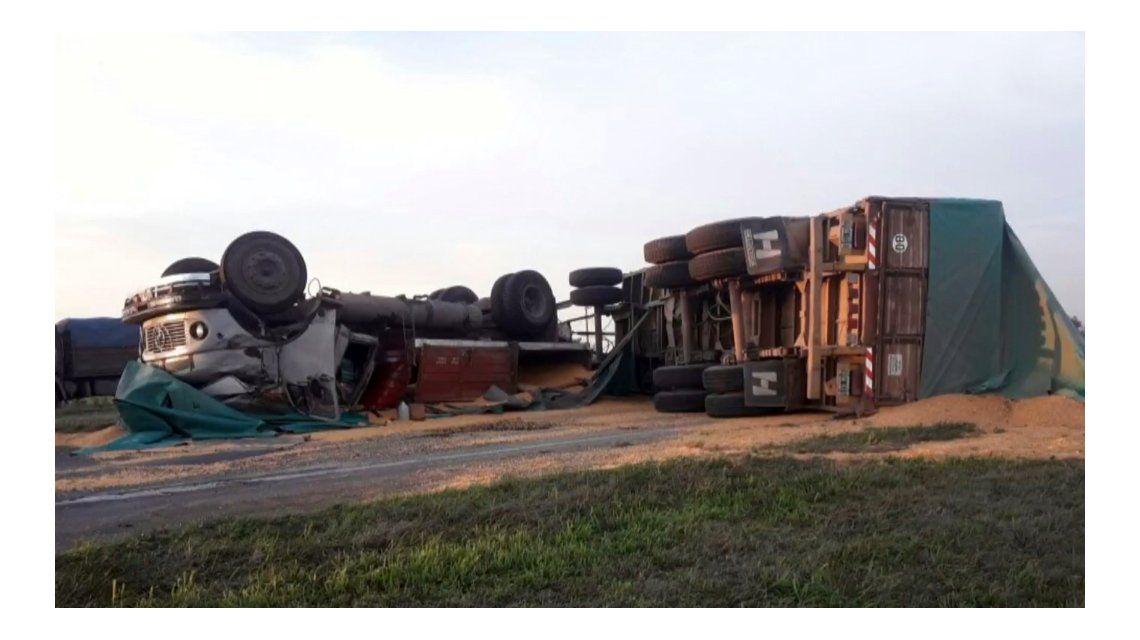 Asi quedaron los camiones