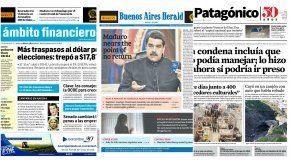 Tapas de diarios del viernes 28 de julio de 2017