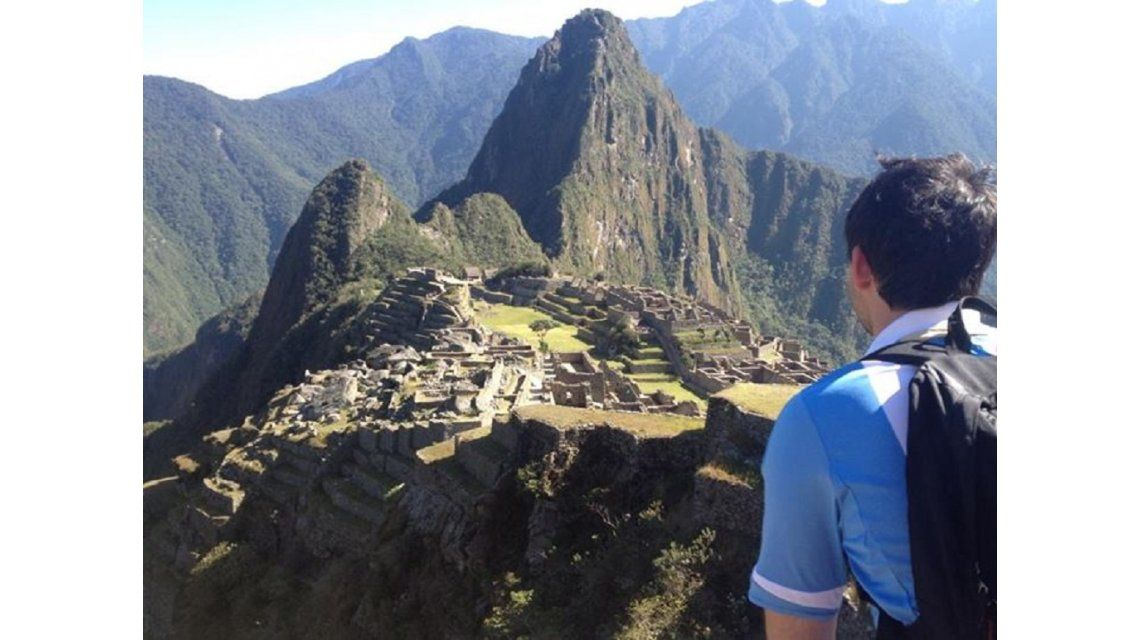 Argentino en el Machu Picchu