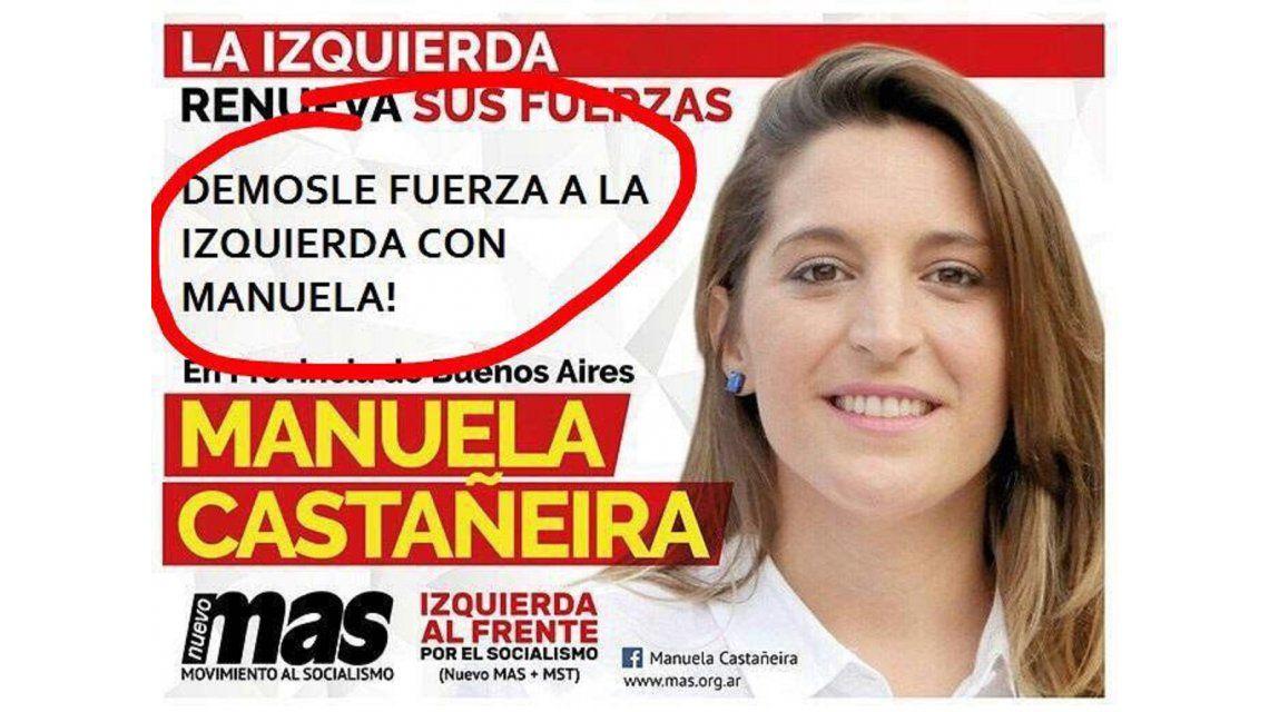 Manuela Castañeira denunció una campaña machista en su contra
