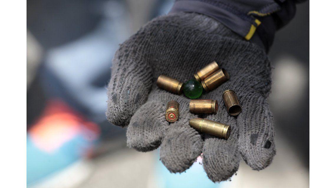 Algunos de los proyectiles disparados durante los enfrentamientos