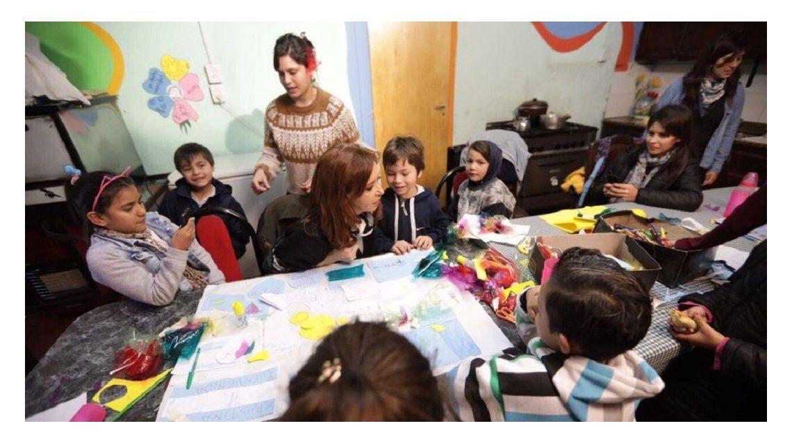 VIDEO: Así fue la reunión de Cristina con mujeres de comedores comunitarios