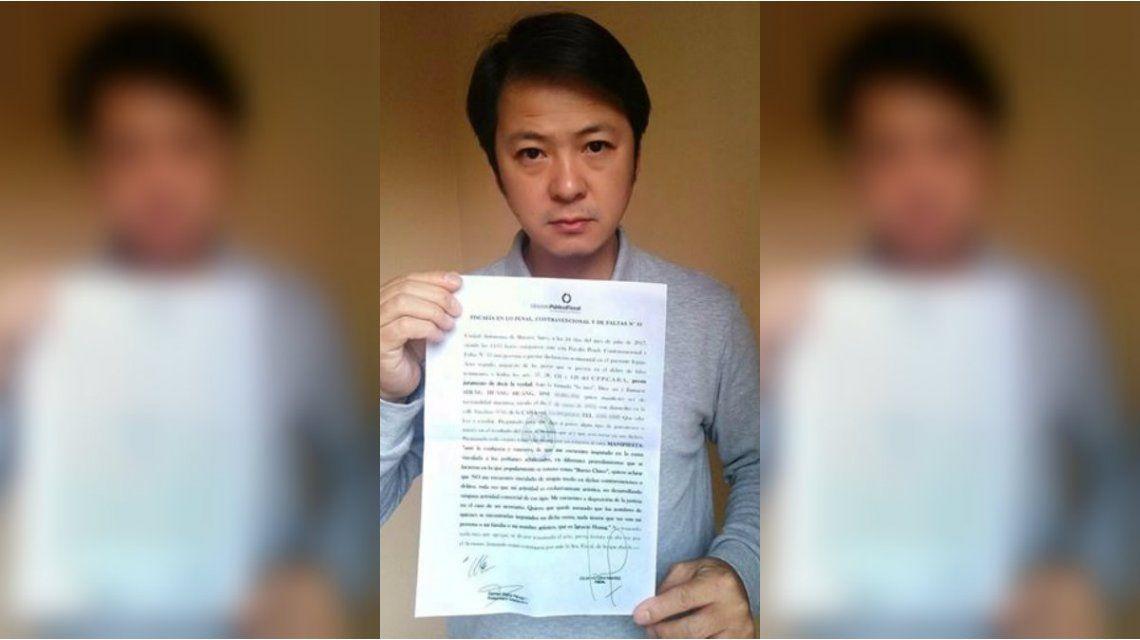 Ignacio Huang se desligó de la venta de perfumes truchos