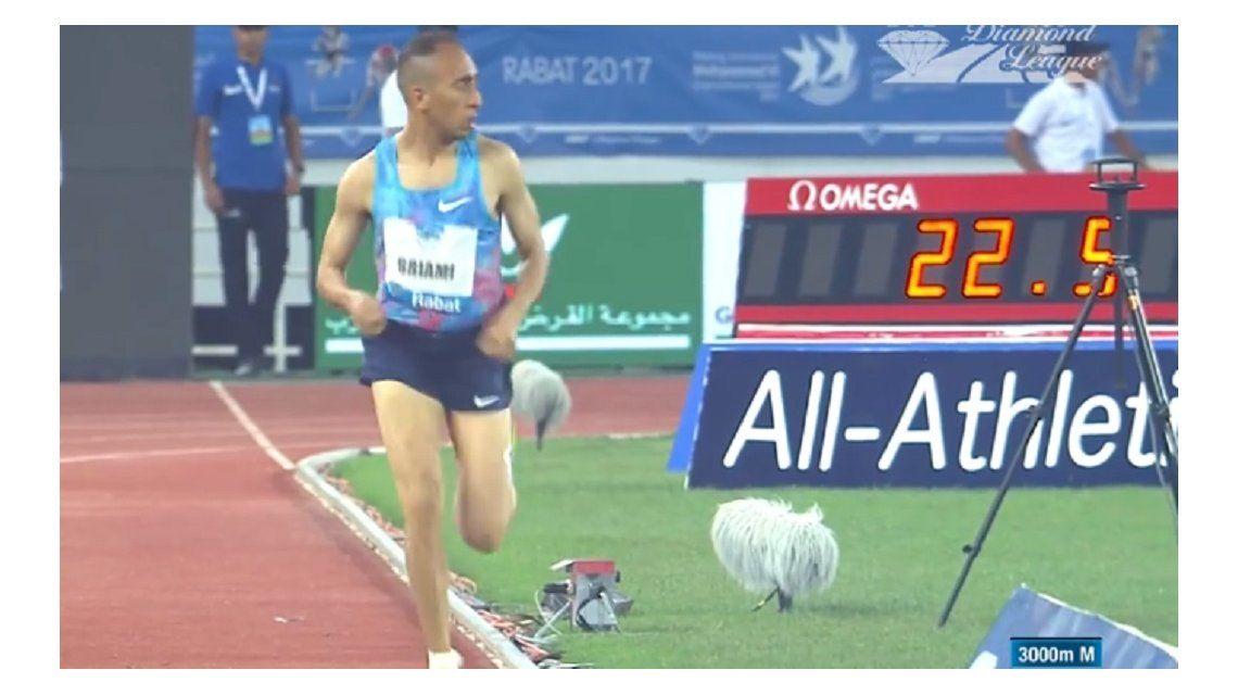 El marroquí tardó 200 metros en darse cuenta que estaba solo