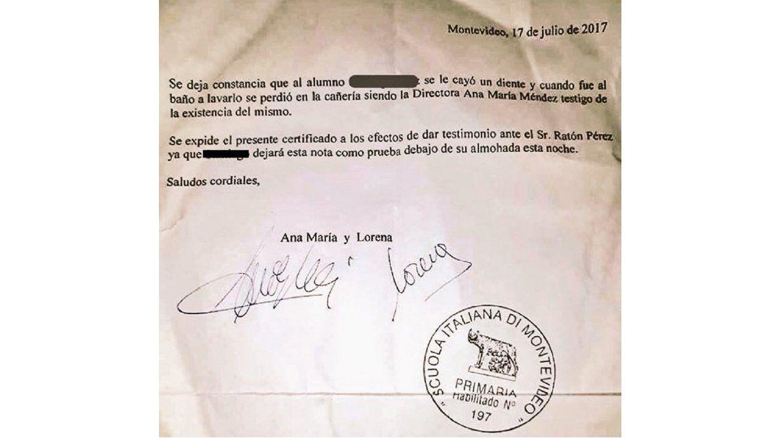 Una maestra le escribió una carta al Ratón Pérez