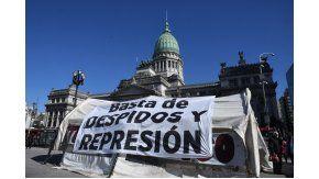 Carpa de trabajadores de Pepsico frente al Congreso Nacional