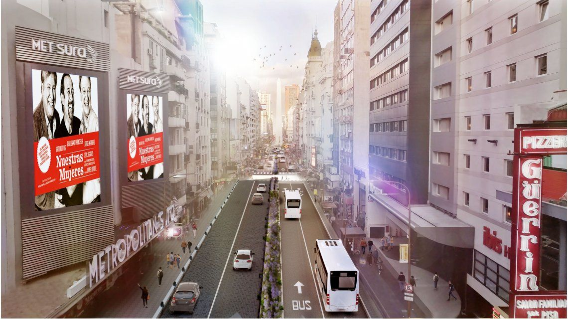 VIDEO: Así quedará la avenida Corrientes luego de que la hagan peatonal