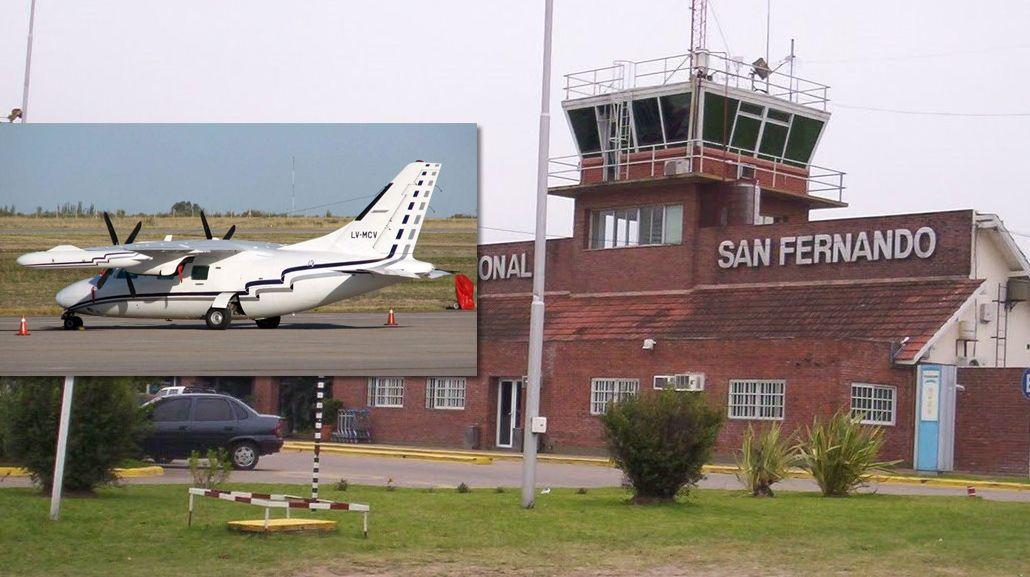 La avioneta había despegado de San Fernando este lunes