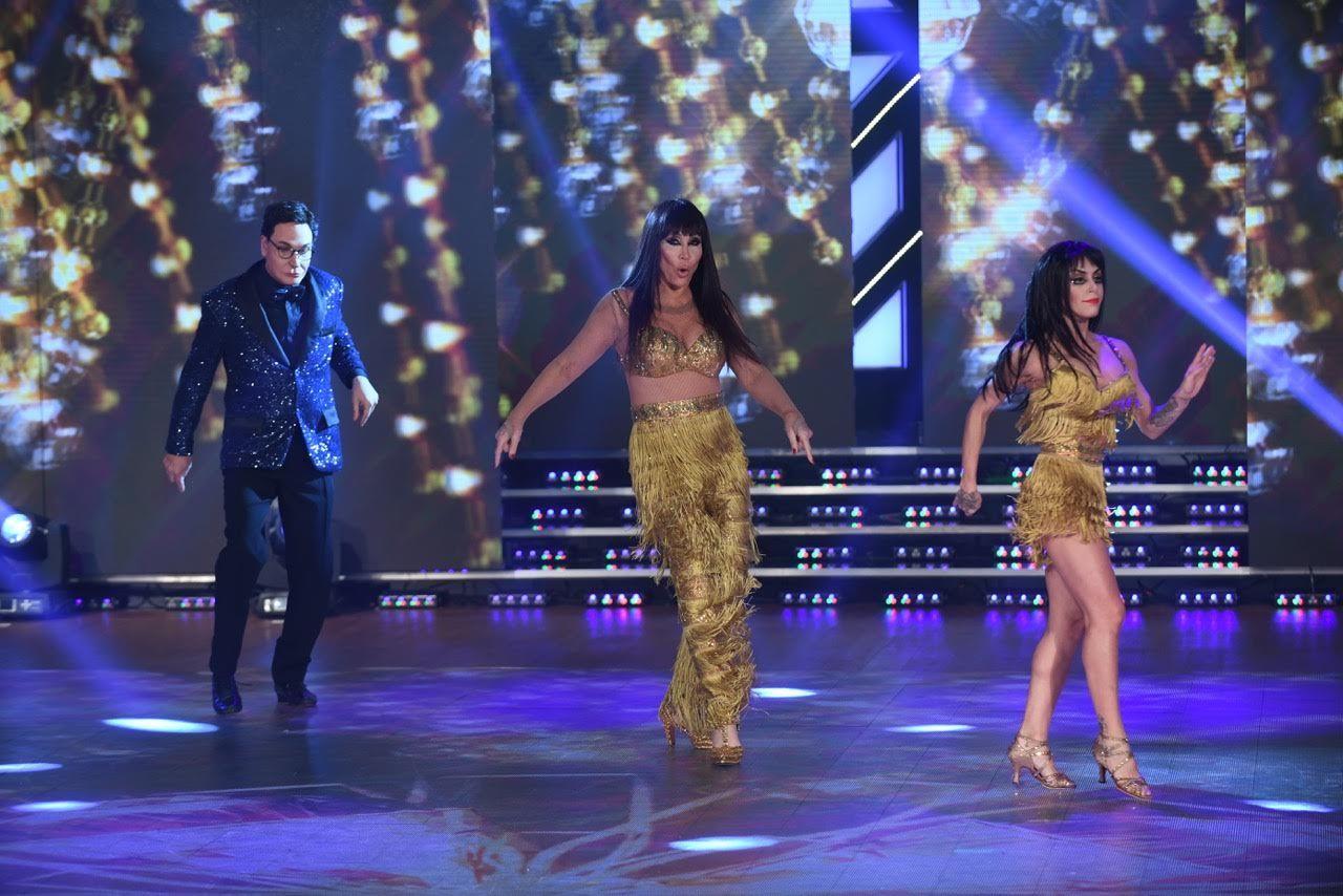 Moria Casán con Freddy Villarreal como Polino y Soledad Bayona