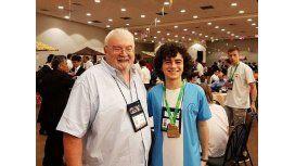 Ian Fleschler ganó laOlimpíada Internacional de Matemática -Crédito:@ORTArgentina