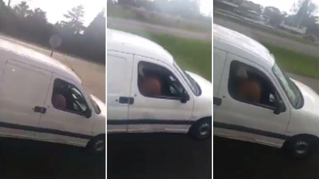 Sexo en la ruta: camioneros filman a una pareja teniendo relaciones en el auto