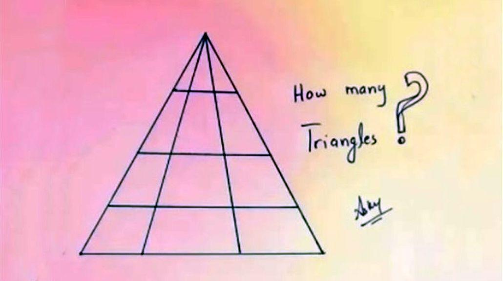 ¿Cuántos triángulos hay en esta imagen?