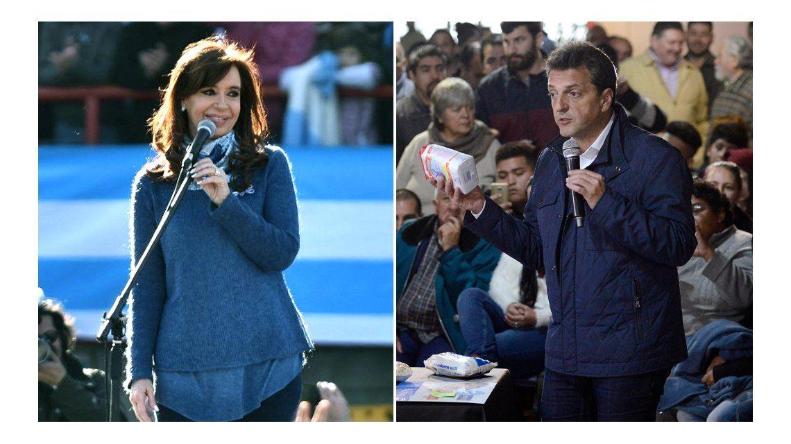 Cristina y Massa ganarían las PASO con casi el 65% de los votos en el Conurbano