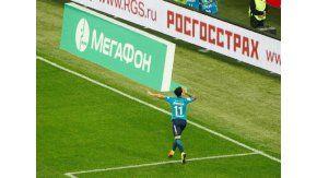 El ex River marcó por primera vez para el Zenit