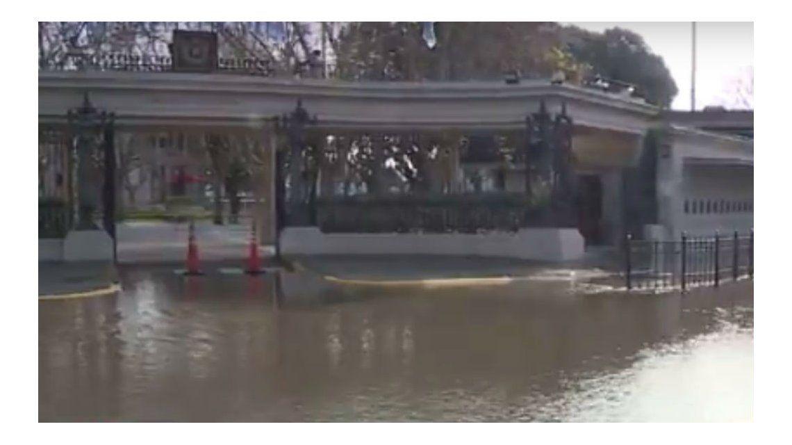 El frente del Hipódromo de Palermo está totalmente inundado